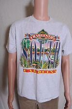 Vtg '90s Charleston South Carolina puffy print gray souvenir vacation t shirt M
