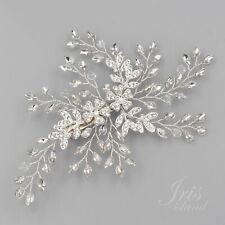 Bridal Hair Clip Pin Crystal Hair Comb Headpiece Silver Wedding Accessory 06987