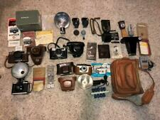 Lot 5 FILM CAMERAS KONICA S2 Yashica IC Ansco Readyflash Argus Cinelarger Meters