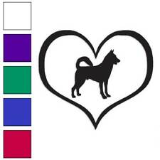 Love Canaan Dog Heart Decal Sticker Choose Color + Size #1437