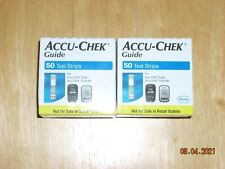 Nib 100 (2 Boxes of 50) Accu-Chek Guide Test Strips * 4/2022 * Mint Condition