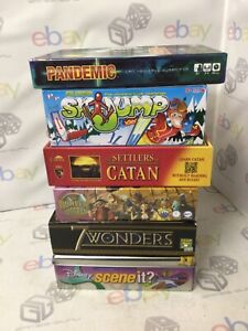 BUNDLE OF POPULAR FAMILY ADULT CHILDREN BOARD GAMES PANDEMIC CATAN DISNEY +