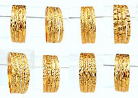 Beautiful Golden Bangles Ethnic Indian Jewelry Party Wear Fashion Bracelet Set