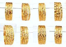 Beautiful Golden Bangles Ethnic Indian Jewelry Party Wear Fashion Bracelet Set