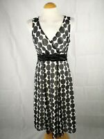 Ladies Dress Size 10 SOPHIE GREY Black Ivory Fit And Flare Party Evening Wedding
