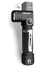 LED Flashlight NICRON N7 600 lumens, 90° angle head rotation, bat.1x AA 1x 14500