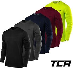 Men's Gym Running Long Sleeve TCA Lightweight Breathable Crew Neck Running Top