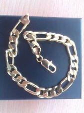 "Chain 9 - 9.49"" Precious Metal Bracelets without Stones"