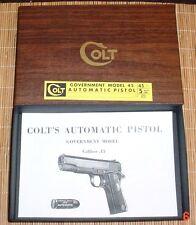 Colt Government Model 45 1965-73 Vintage Colt Box & Manual