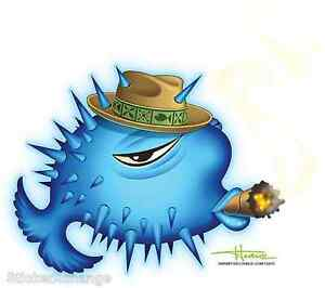 Puffer Fish Sticker Decal Artist Doug Horne H8