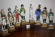 CORTESE CAPIDOMONTE NAPOLEON JOSEPHINE & GENERALS  STATUE COLLECTION HAND SIGNED