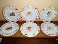 6 assiettes desserts pour enfants - Magnets - Plastic dur Ok pour lave vaisselle