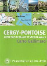 CARTOVILLE / CERGY-PONTOISE - FRANCE - VOYAGE - TOURISME - PLANS - CARTES