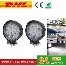 2x 27W LED LUCE Lampada Faro Da Lavoro Spot Work Light trattore LAVORO FARETTO