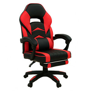 POKAR Gaming Sports Chair Racing chair for gamers with footstool