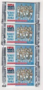 1992 Upper Deck USA Dream Team Basketball 4 Sealed Packs.