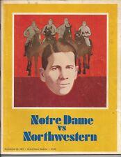 1973 Notre Dame vs Northwestern college football program National Champions