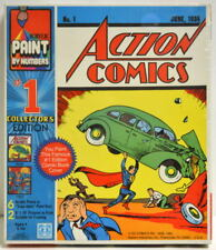 ACTION COMICS / SUPERMAN #1 Collector's Ed Acrylic PAINT by NUMBERS SET DC 1982