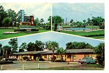 Peach State Motel-Sign-Pool-Brunswick-Georgia-Vintage 1967 Advertising Postcard