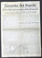 Giornale - Gazzetta del Popolo N. 165 - Il trionfale volo oceanico - 1933