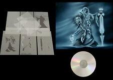 Step by Step Airbrush Schablone / Stencil 0682 Reaper mit Schwert & AnLeitungsCD