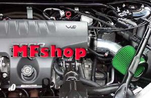 Green For 1995-2005 Pontiac Bonneville 3.8L V6 Air Intake System Kit + Filter