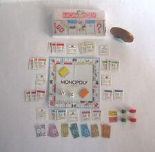DOLLHOUSE MINIATURE MONOPOLY GAME SET 1:12 SCALE