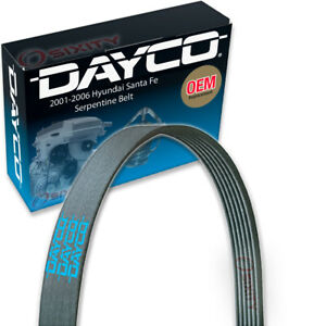 Dayco Main Drive Serpentine Belt for 2001-2006 Hyundai Santa Fe 2.7L V6 fd