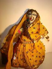 Antique Indian Indonesian Cloth Doll In Costume Lady With Nose Ring & Sari