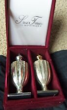 Silver Treasures by Godinger Silver &Gold Salt & Pepper Shakers in Case  sku 226