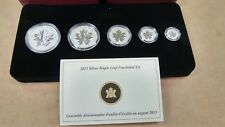 Canada 2013 Silver Maple Leaf Fractional Set, Complete in Box With certificate