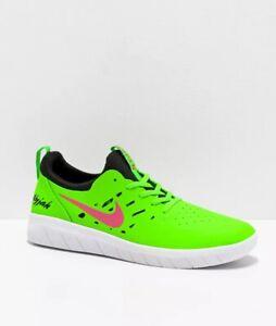 Nike SB Nyjah Free Watermelon Green & Pink Skate Shoes Mens sz 9.5 Women sz 11
