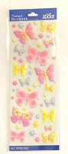 Spring Pastel Butterfly Puffy Stickers Planner Supply DIY Crafts Papercraft
