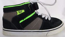 SHAUN WHITE Mid High Top Sneakers Skate Shoes Marmont Black Green Boys Sz 1 EUC