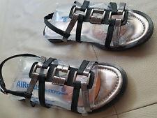 Orig Tamaris Sandalen Gr 40 Sandalette schwarz/silber elegant und bequem