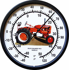"""New Allis Chalmers Model B Tractor Wall Thermometer 10"""" Round Years 1953"""