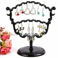 New Black Tree Display Stand Holder Organizer 28 Holes Earring Jewelry Show Rack