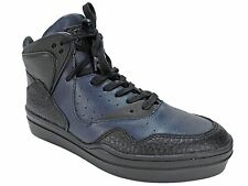Article No Men's 0225 Mid-Top Fashion Sneakers in Navy Blue Leather Size 8 M