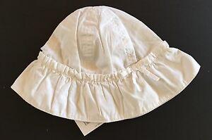NWT Gymboree Cote D'Azure 6-12 Months White Sun Hat