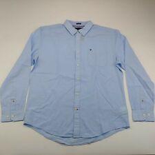 Tommy Hilfiger Men's Light Blue Button Down Long Sleeve Dress Shirt Size XL NWT