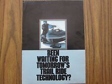 1979 Snowmobile Brochure Arctic Cat TRail Cat 340 LOTS More Listed