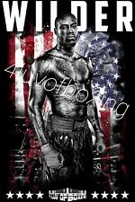 Deontay Wilder 4LUVofBOXING Poster New Boxing gym wall art Bronze Bomber