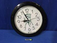 """Top Quartz Green Mustang Horse 11"""" Wall Clock w/battery Strongsville FREE SHIP"""