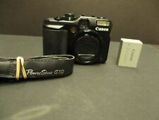 Canon powershot G10 camera with charged battery no charger mint minus