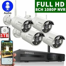 OOSSXX 8-Channel HD 1080P Wireless Security Camera System 2.0 Megapixel B164