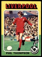 Topps Foootball 1975 Red/Grey (B2) Phil Thompson Liverpool No. 143