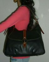 DOONEY & BOURKE BLACK SAMBA LEATHER HOBO BAG SHOULDER BAG HANDBAG SATCHEL PURSE