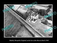 OLD LARGE HISTORIC PHOTO MADELEY SHROPSHIRE ENGLAND THE BEACON HOTEL c1950
