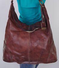 FRYE Large Brown Leather Shoulder Hobo Tote Satchel Purse Bag