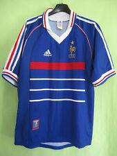 Maillot Equipe de France Mondial 1998 #5 Crocodile FFF Vintage Adidas Jersey - M